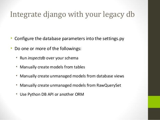 Django Database