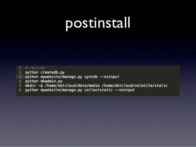 Create app and DB$ heroku create paasbakeoffCreating paasbakeoff... done, stack is cedarhttp://paasbakeoff.herokuapp.com/ ...