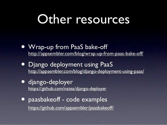Django deployment with PaaS