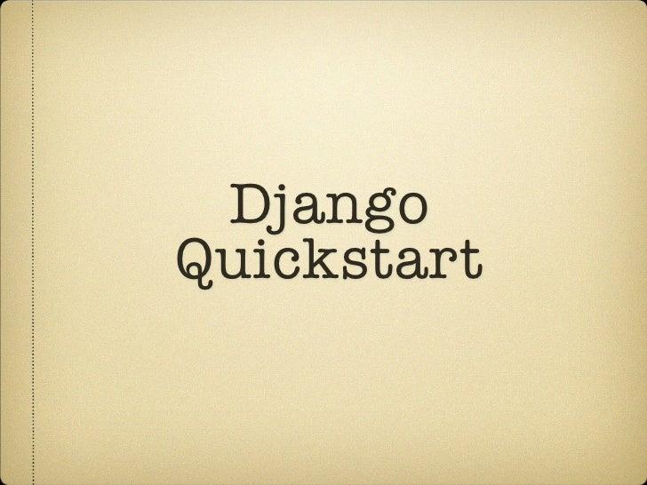 DjangoQuickstart
