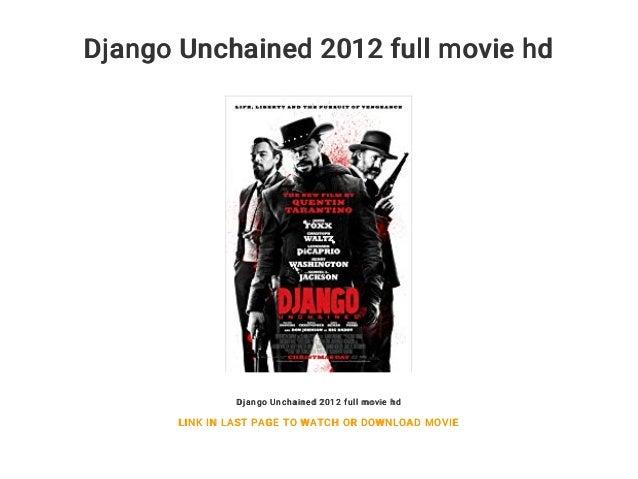 Django Unchained 2012 Full Movie Hd
