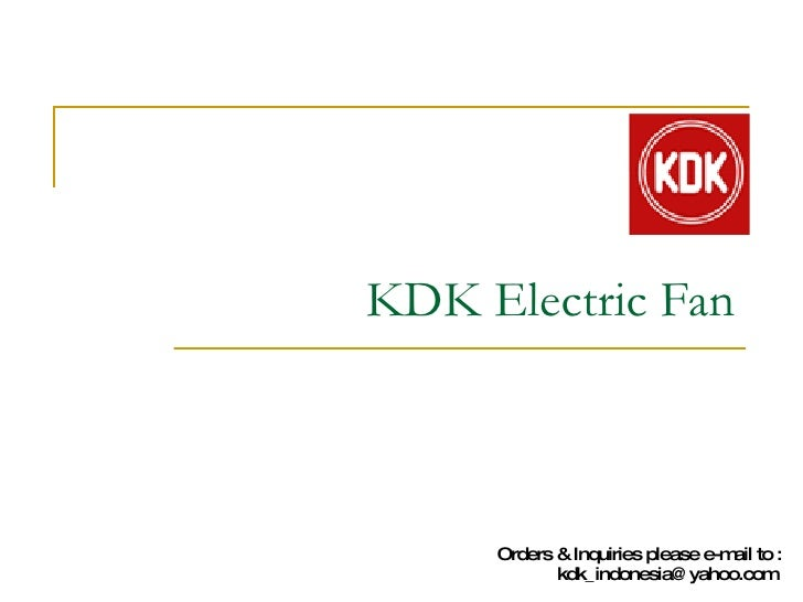KDK Electric Fan