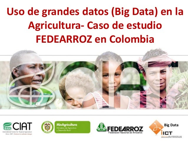 Uso de grandes datos (Big Data) en la Agricultura- Caso de estudio FEDEARROZ en Colombia  Big Data www.ciat.cgiar.org  Agr...