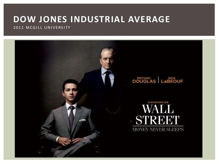 Dow Jones Industrial Average2011 McGill University<br />