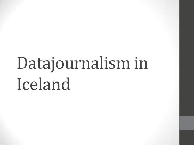 Datajournalism in Iceland