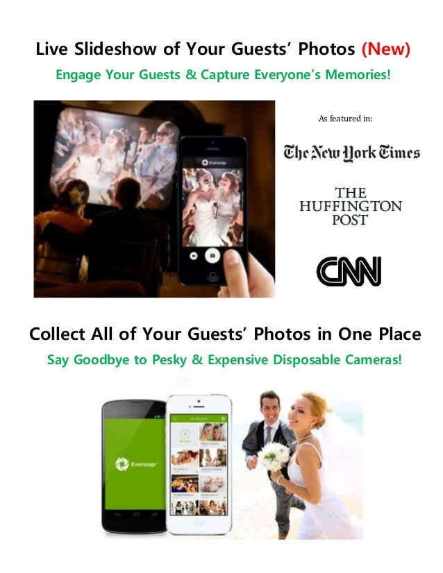 Live Slideshow of Your Guests' Photos (New) Engage Your Guests & Capture Everyone's Memories! Collect All of Your Guests' ...