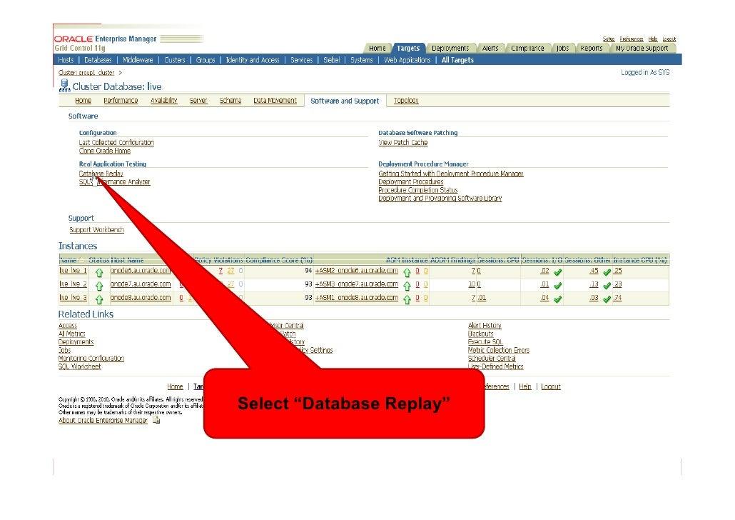"Select ""Database Replay"""