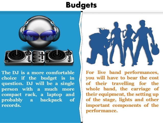 3 Budgets For Live Band