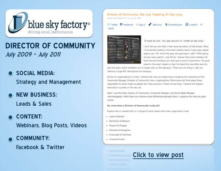 Employment; 8.  Interactive Resume