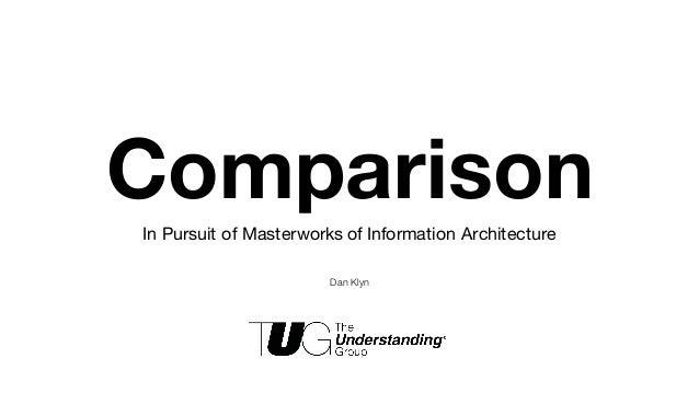 ComparisonIn Pursuit of Masterworks of Information Architecture Dan Klyn