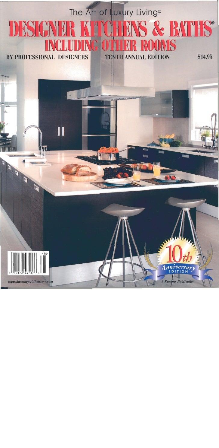 Designer kitchen bath magazine cover - Designer kitchen and bathroom magazine ...