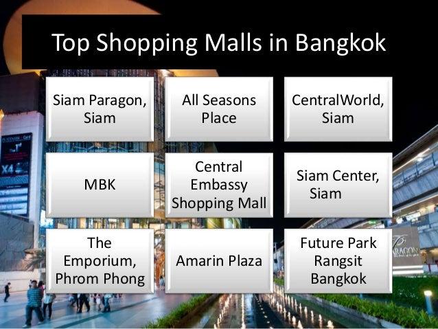 Shopping Malls in Bangkok - Bangkok Shopping Centres