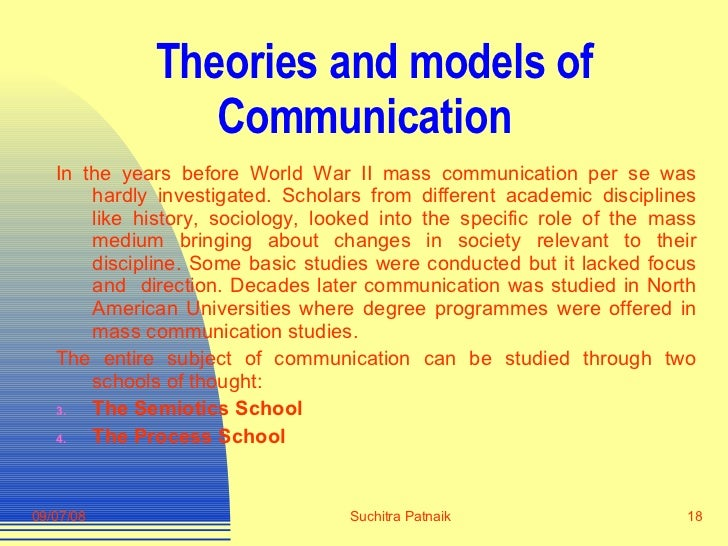 models in mass communication theories Defining communication theories   communication accommodation theorists argue  the theory maintains that mass media.