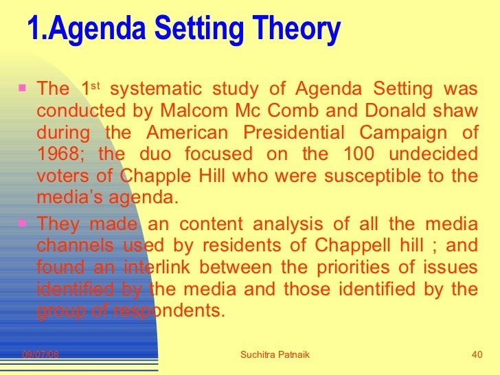 the agenda setting and spiral of silence media essay Mass communication essay agenda setting, uses and gratifications, social learning, symbolic interactionism, spiral of silence, media logic, and cultivation analysis our understanding of the relationship among politicians, the press.