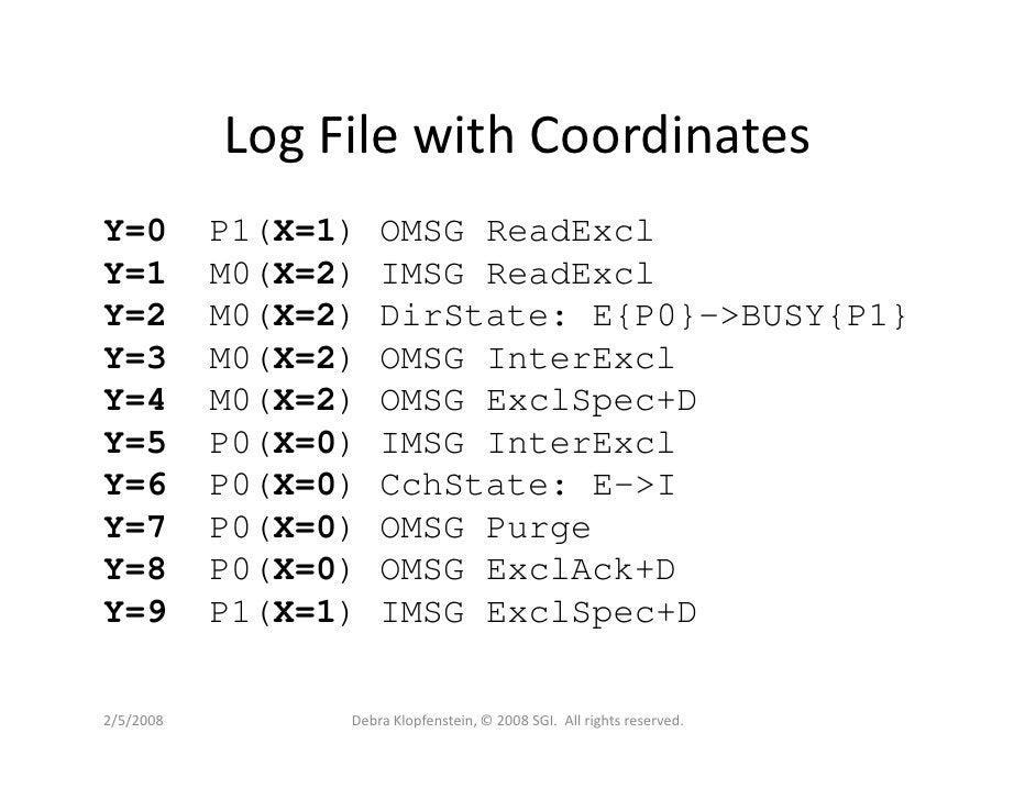 Log File with Coordinates Y=0        P1(X=1)   OMSG ReadExcl Y=1        M0(X=2)   IMSG ReadExcl Y=2        M0(X=2)   DirSt...