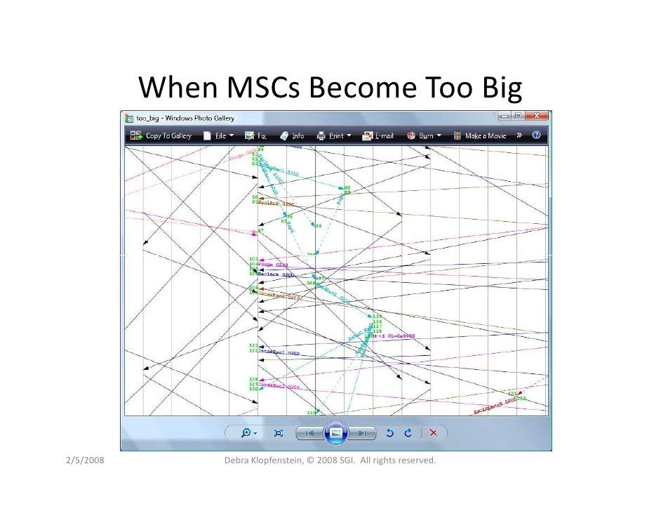 When MSCs Become Too Big     2/5/2008        Debra Klopfenstein, © 2008 SGI. All rights reserved.