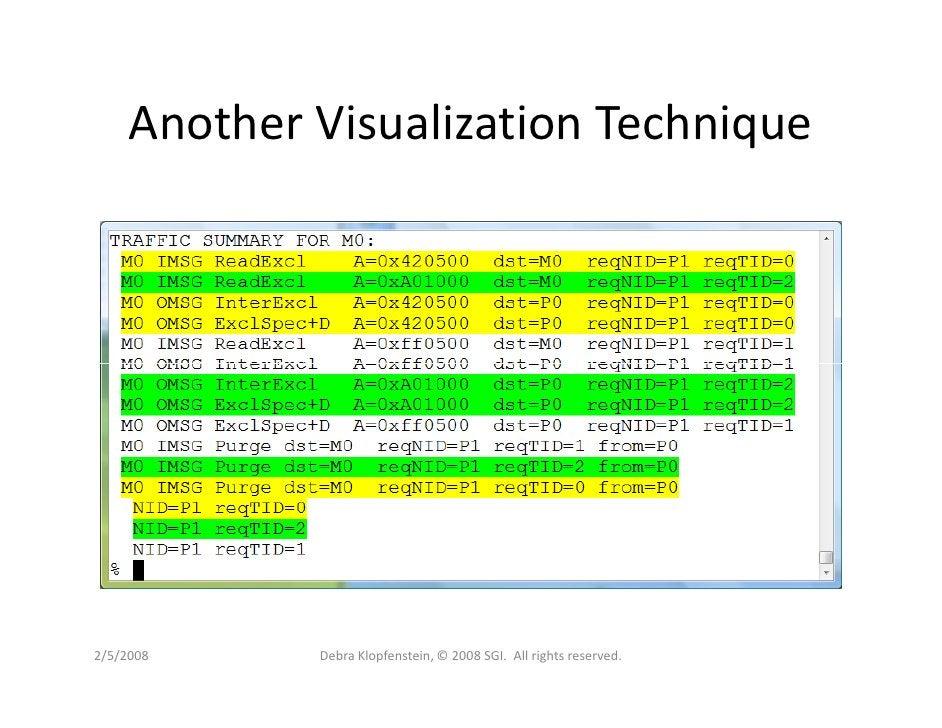 Another Visualization Technique     2/5/2008     Debra Klopfenstein, © 2008 SGI. All rights reserved.