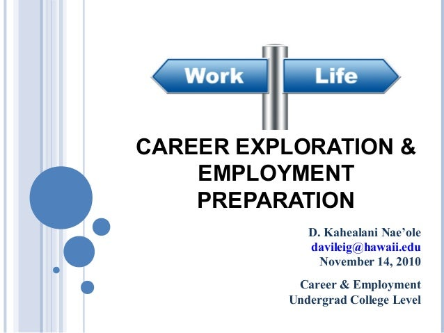 CAREER EXPLORATION &    EMPLOYMENT    PREPARATION             D. Kahealani Nae'ole             davileig@hawaii.edu        ...