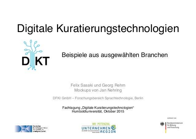 """Felix Sasaki und Georg Rehm Mockups von Jan Nehring DFKI GmbH – Forschungsbereich Sprachtechnologie, Berlin Fachtagung """"Di..."""