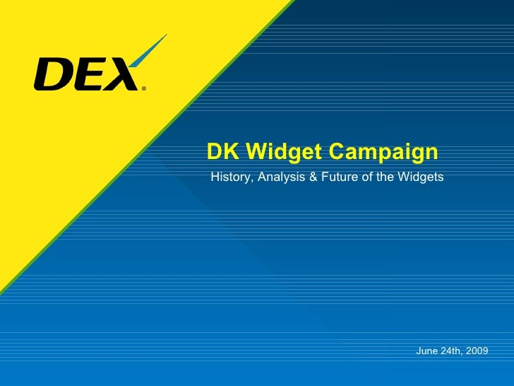 DK Widget Campaign History, Analysis & Future of the Widgets June 24th, 2009