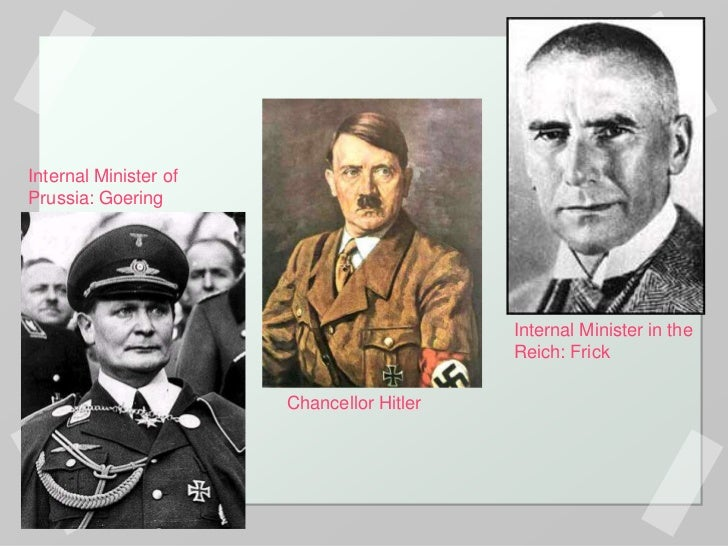 hitler and his consolidation of power In january 1933 hitler became chancellor of germany and by august 1934, he  had declared himself führer - the leader of germany what happened during this .