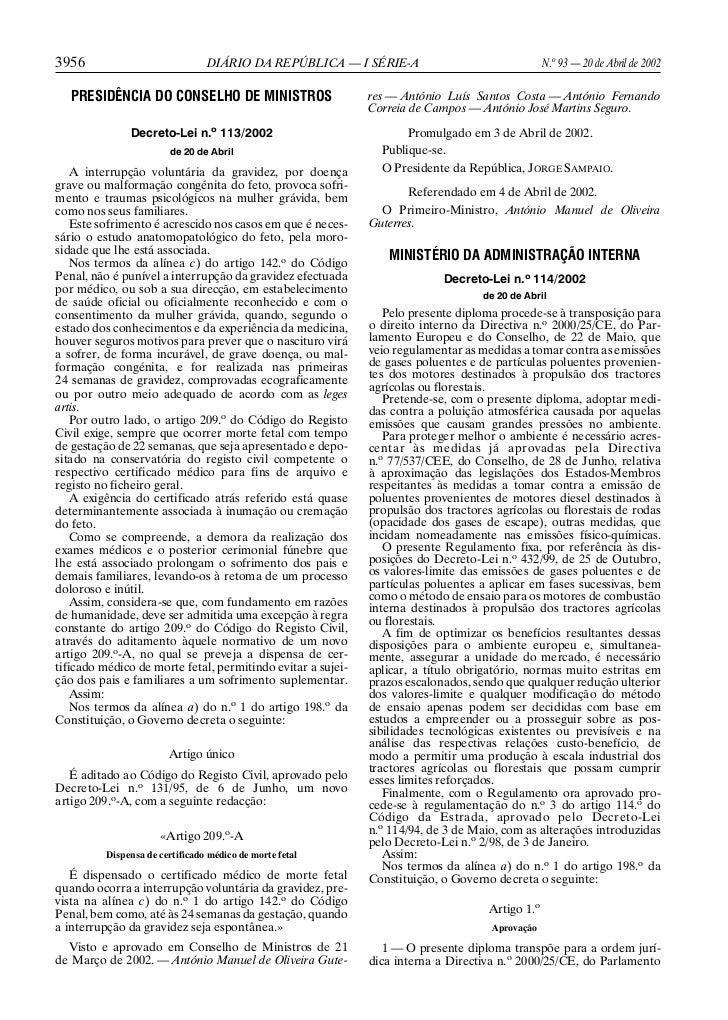 3956                             DIÁRIO DA REPÚBLICA — I SÉRIE-A                                 N.o 93 — 20 de Abril de 2...