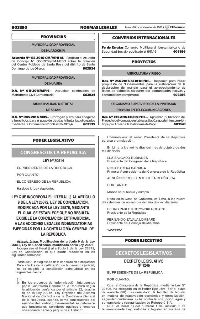 603850 NORMAS LEGALES Jueves 10 de noviembre de 2016 / El Peruano PROVINCIAS MUNICIPALIDAD PROVINCIAL DE HUAROCHIRI Acuerd...