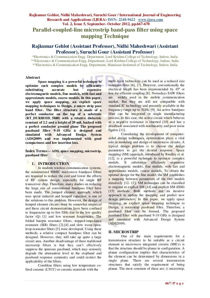 Rajkumar Gehlot, Nidhi Maheshwari, Suruchi Gour / International Journal of Engineering          Research and Applications ...