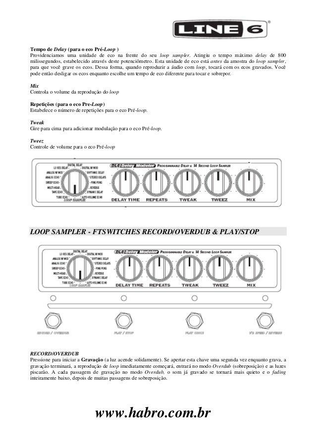 manual do pedal line 6 dl4 portugu s rh pt slideshare net line 6 dl4 manuel francais line 6 dl4 manuale italiano