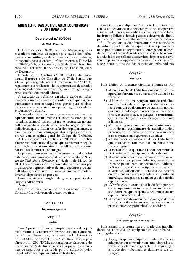 1766 DIÁRIO DA REPÚBLICA — I SÉRIE-A N.o 40 — 25 de Fevereiro de 2005 MINISTÉRIO DAS ACTIVIDADES ECONÓMICAS E DO TRABALHO ...
