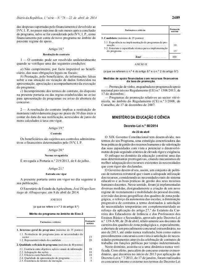 Diário da República, 1.ª série—N.º 78—22 de abril de 2014 2489 das despesas suportadas pelo financiamento é devolvido ao I...