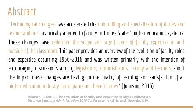 The Evolution of Faculty and Expertise in Higher Education Slide 3