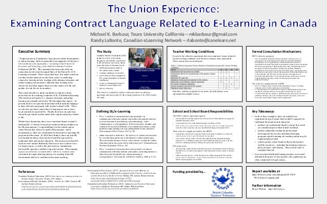 "Executive Summary ""Teacher unions in Canada have had concerns about developments in online learning, but have generally be..."
