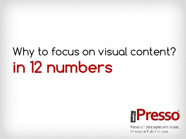 Why to focus on visual content? in 12 numbers