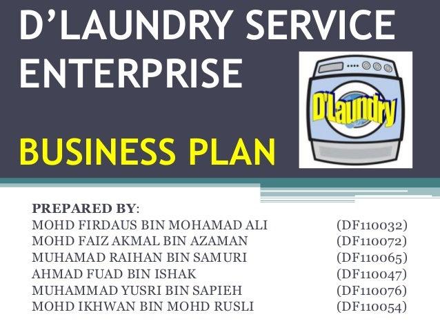 business plan kedai dobi