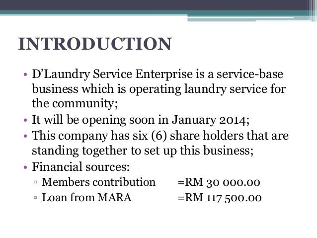 Laundry Business Plan Introduction