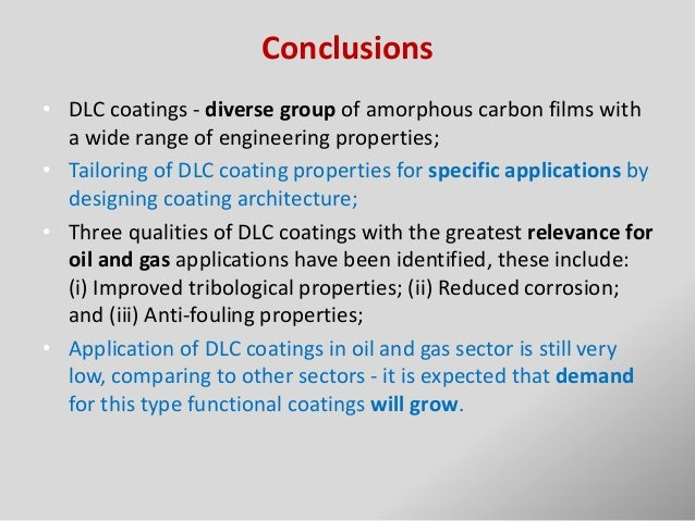 W Dlc Coating Conclusions   DLC coatings