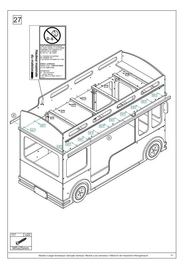 dlc instrucciones armado london bus. Black Bedroom Furniture Sets. Home Design Ideas