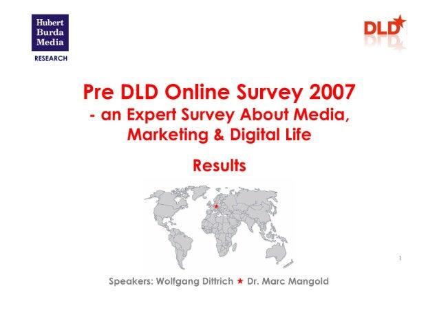 DLD trends 2007