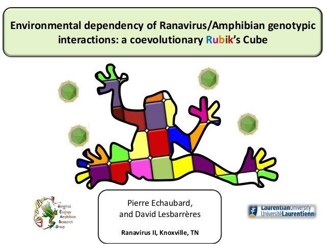 Pierre Echaubard, and David Lesbarrères Ranavirus II, Knoxville, TN Environmental dependency of Ranavirus/Amphibian genoty...