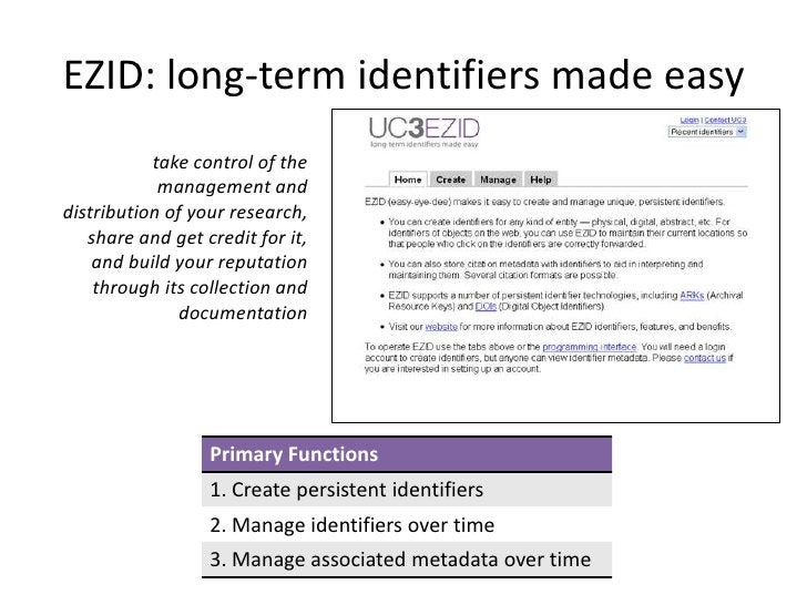 Current EZID Clients                                               A partial listUC Berkeley Library (on behalf of the UC ...