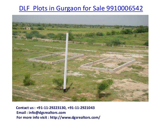 DLF Plots in Gurgaon for Sale 9910006542CContact us : +91-11-29223130, +91-11-2921043Email : info@dgsrealtors.comFor more ...