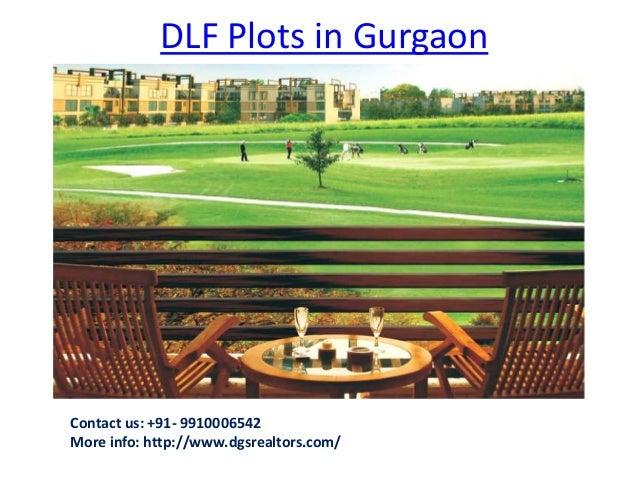 DLF Plots in Gurgaon Contact us: +91- 9910006542 More info: http://www.dgsrealtors.com/