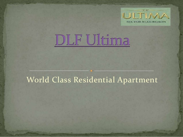 World Class Residential Apartment