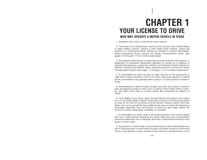 texas commercial drivers license handbook