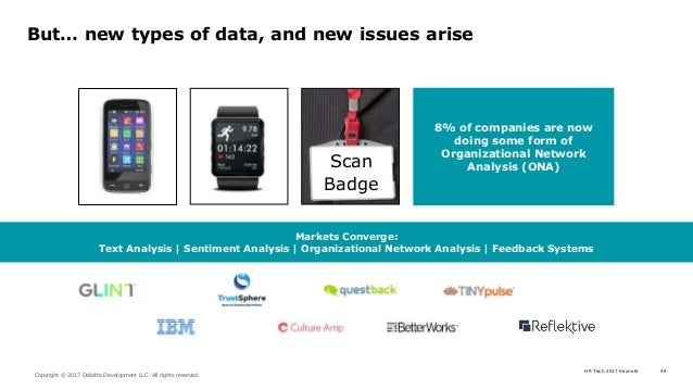 HR Tech 2017 Keynote 48 Copyright © 2017 Deloitte Development LLC. All rights reserved. But… new types of data, and new is...