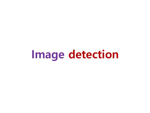 Image detection