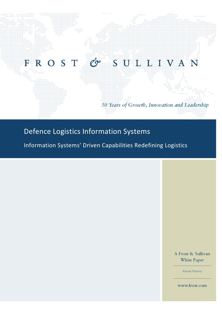 Defence Logistics Information SystemsInformation Systems' Driven Capabilities Redefining Logistics                        ...