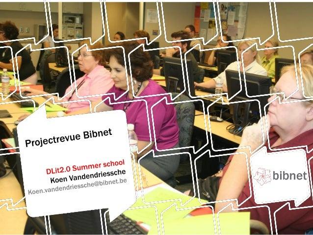DLit2.0of Digital Literacy 2.0Train-de-trainer in bibliothekenin 7 Europese landenDigitale vaardigheden voorkansengroepenI...