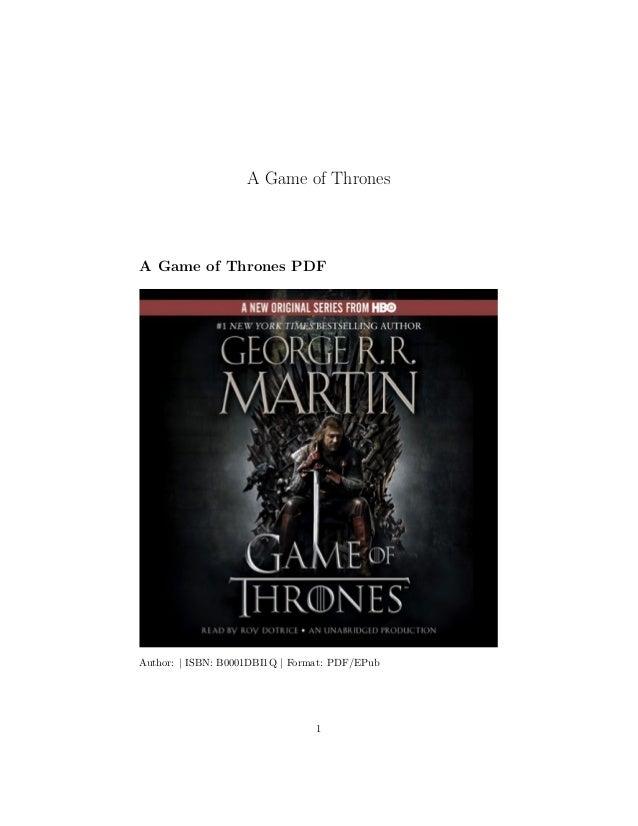 A Game of Thrones A Game of Thrones PDF Author: | ISBN: B0001DBI1Q | Format: PDF/EPub 1